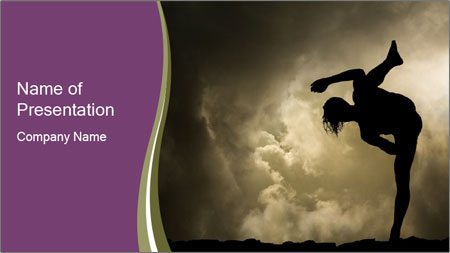 Dramatic Kungfu Fighter PowerPoint Template