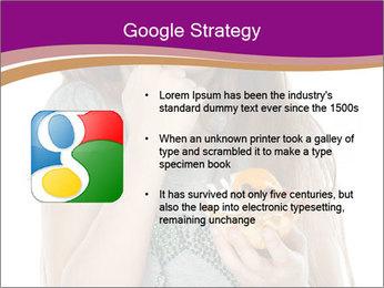 Schoolgirl Eats Cake PowerPoint Templates - Slide 10