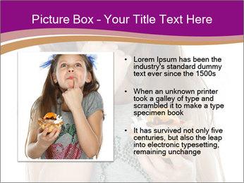 Schoolgirl Eats Cake PowerPoint Templates - Slide 13