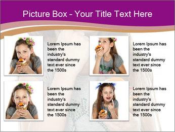 Schoolgirl Eats Cake PowerPoint Templates - Slide 14