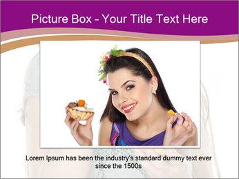 Schoolgirl Eats Cake PowerPoint Templates - Slide 16