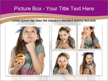 Schoolgirl Eats Cake PowerPoint Templates - Slide 19