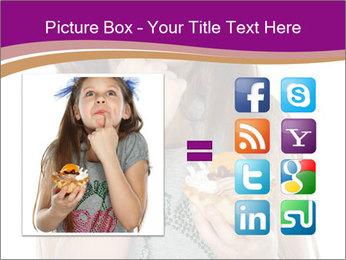 Schoolgirl Eats Cake PowerPoint Templates - Slide 21