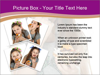 Schoolgirl Eats Cake PowerPoint Templates - Slide 23