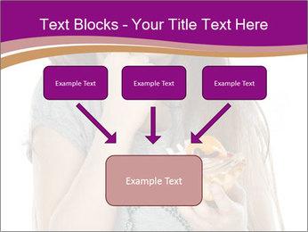 Schoolgirl Eats Cake PowerPoint Templates - Slide 70