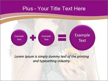 Schoolgirl Eats Cake PowerPoint Templates - Slide 75