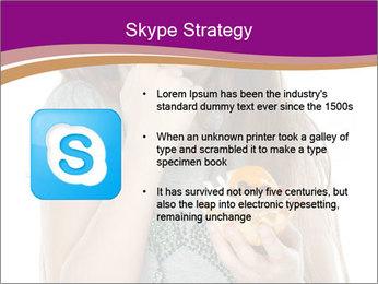 Schoolgirl Eats Cake PowerPoint Templates - Slide 8