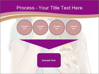 Schoolgirl Eats Cake PowerPoint Templates - Slide 93