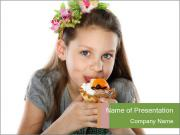 Girl Loves Cakes PowerPoint Templates