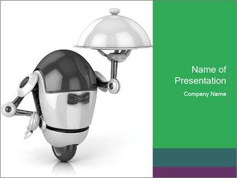 3D Robot Waiter PowerPoint Template - Slide 1