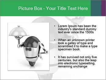 3D Robot Waiter PowerPoint Template - Slide 13