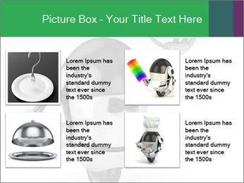 3D Robot Waiter PowerPoint Template - Slide 14