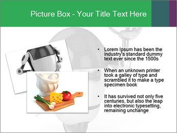 3D Robot Waiter PowerPoint Template - Slide 20