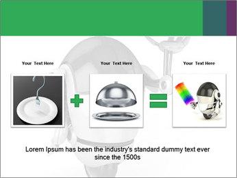 3D Robot Waiter PowerPoint Template - Slide 22