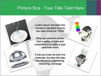 3D Robot Waiter PowerPoint Template - Slide 24