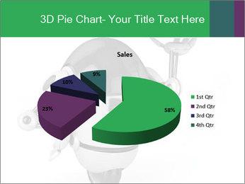 3D Robot Waiter PowerPoint Template - Slide 35