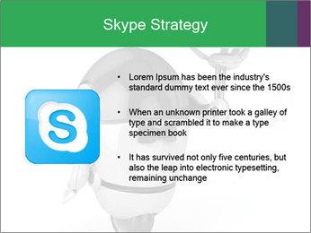 3D Robot Waiter PowerPoint Template - Slide 8