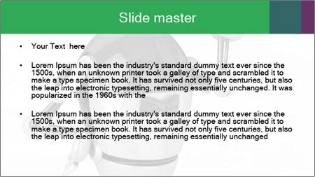 3D Robot Waiter PowerPoint Template - Slide 2