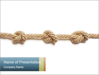 Three Knots PowerPoint Template - Slide 1
