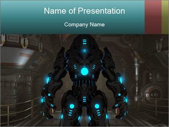 Dangerous Android Robot PowerPoint Templates - Slide 1