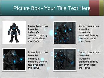 Dangerous Android Robot PowerPoint Templates - Slide 14