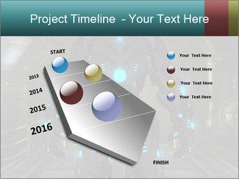 Dangerous Android Robot PowerPoint Templates - Slide 26