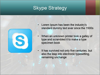 Dangerous Android Robot PowerPoint Templates - Slide 8