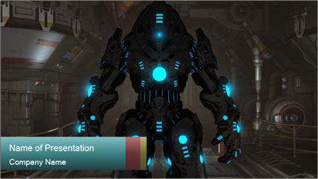 Dangerous Android Robot PowerPoint Template