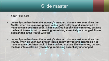Dangerous Android Robot PowerPoint Template - Slide 2