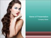 Hairstyle Super Model PowerPoint Templates