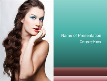 Hairstyle Super Model PowerPoint Templates - Slide 1