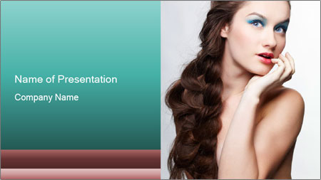 Hairstyle Super Model PowerPoint Template