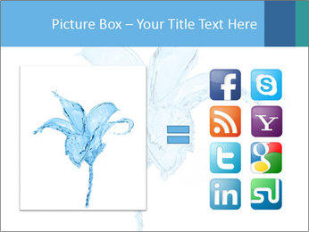Blue Water Flower PowerPoint Templates - Slide 21