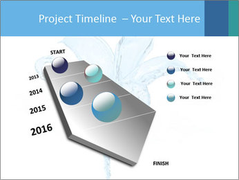 Blue Water Flower PowerPoint Templates - Slide 26