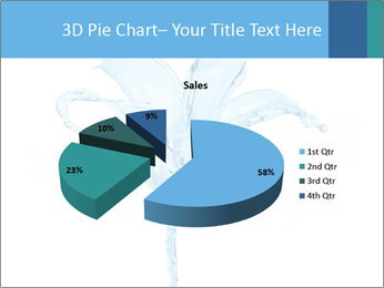 Blue Water Flower PowerPoint Templates - Slide 35