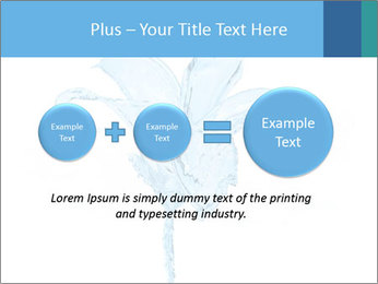 Blue Water Flower PowerPoint Templates - Slide 75