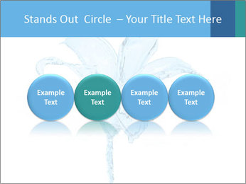 Blue Water Flower PowerPoint Templates - Slide 76