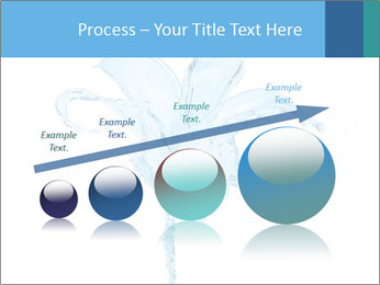 Blue Water Flower PowerPoint Templates - Slide 87