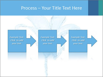 Blue Water Flower PowerPoint Templates - Slide 88