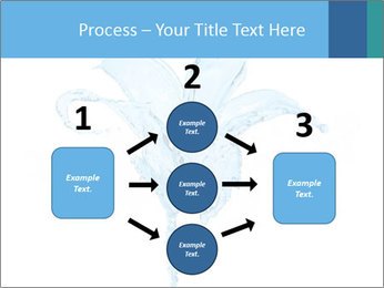 Blue Water Flower PowerPoint Templates - Slide 92