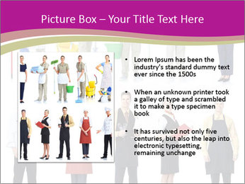 Team of Cleaners PowerPoint Template - Slide 13