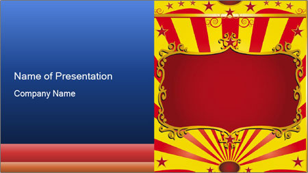 Circus Poster PowerPoint Template