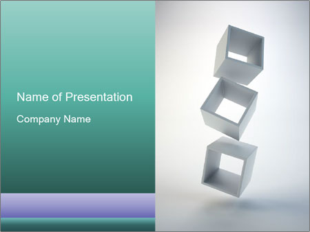 Boxes in the Air PowerPoint Templates