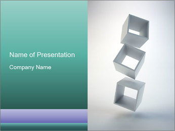 Boxes in the Air PowerPoint Templates - Slide 1