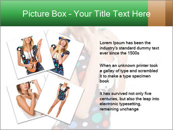 Flirting Young Woman PowerPoint Template - Slide 23