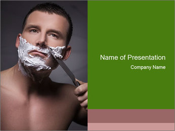 Daily Shaving Routine PowerPoint Template - Slide 1