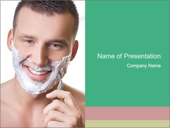 Man's Shaving Routine PowerPoint Templates - Slide 1