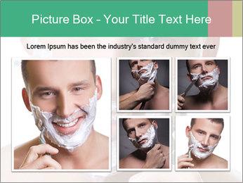 Man's Shaving Routine PowerPoint Templates - Slide 19