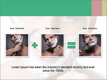 Man's Shaving Routine PowerPoint Templates - Slide 22