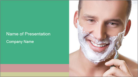 Man's Shaving Routine PowerPoint Template